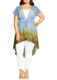 Plus Size Women's City Chic Shanika Tie Waist High/low Top