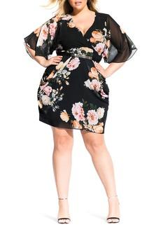 Plus Size Women's City Chic Tuscan Rose Dress