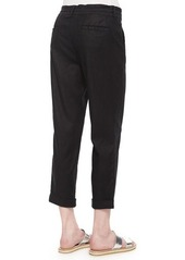 CJ by Cookie Johnson Linen-Blend Cropped Pants