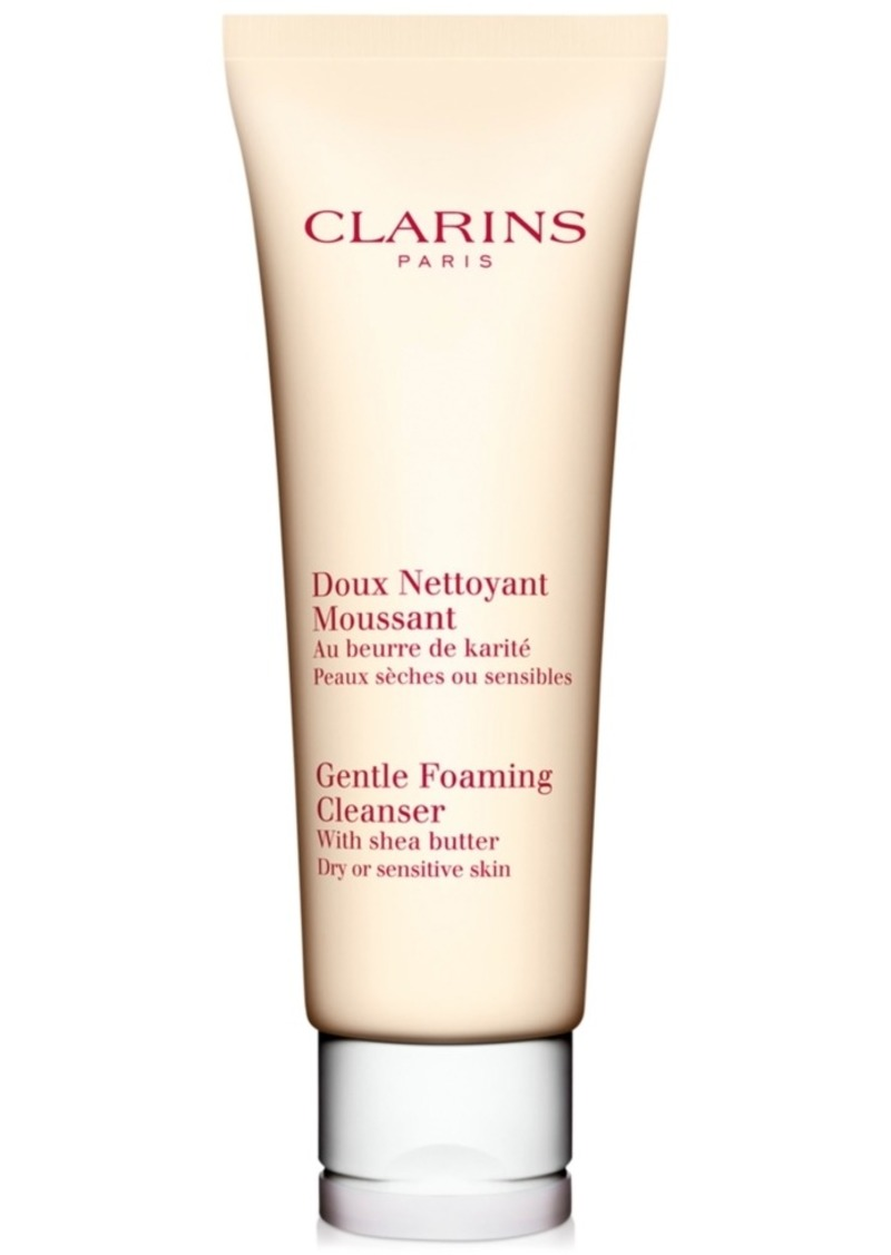 Clarins Gentle Foaming Cleanser with Shea Butter for Dry or Sensitive Skin, 4.4 oz