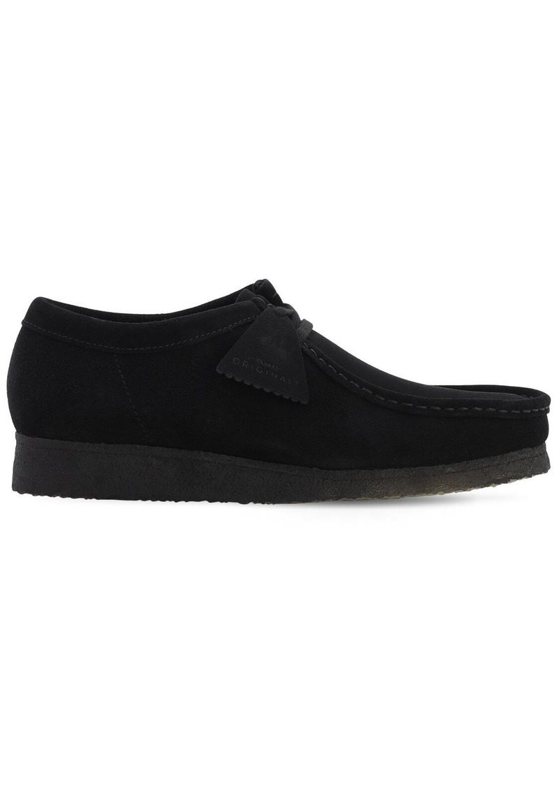 Clarks 30mm Suede Wallabee Lace-up Shoes