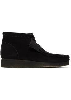 Clarks Black Suede Wallabee Boots