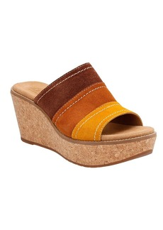 """Clarks® """"Aisley Lily"""" Wedge Slide Sandals"""