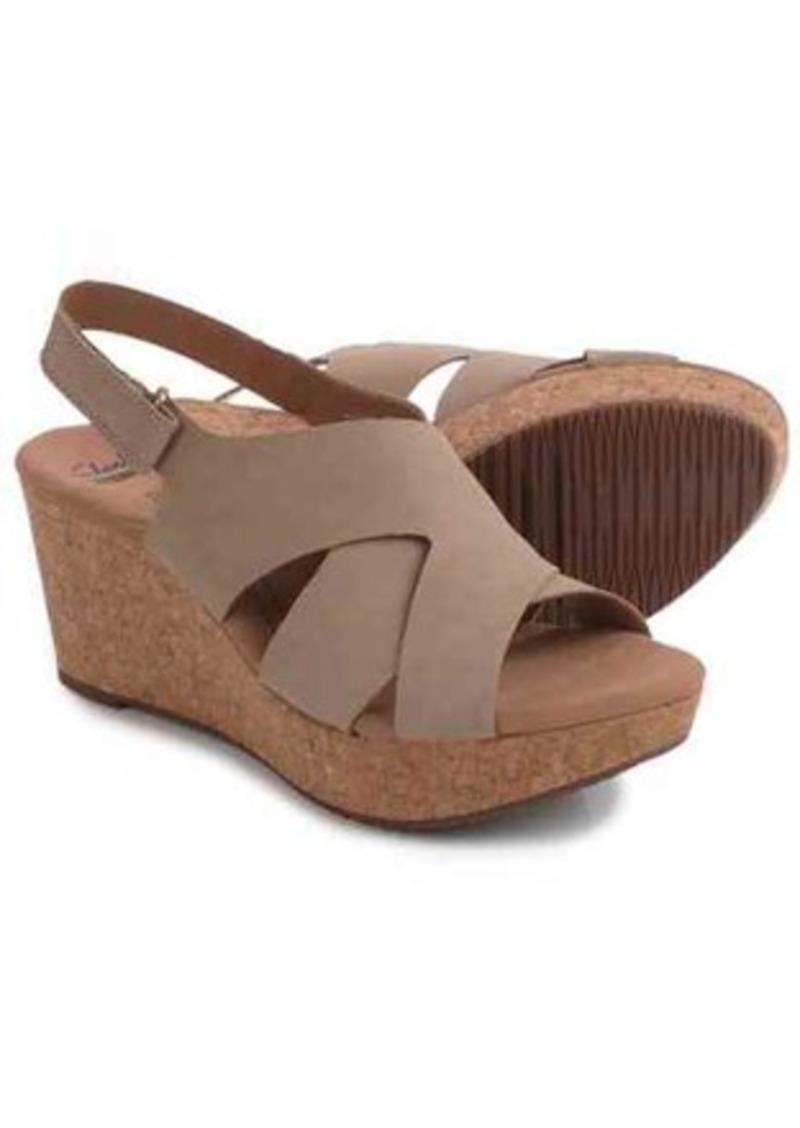 604f822e4ea Clarks Clarks Annadel Fareda Wedge Sandals - Nubuck (For Women)