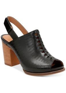 Clarks Artisan Women's Briatta Key Slingback Block-Heel Sandals Women's Shoes