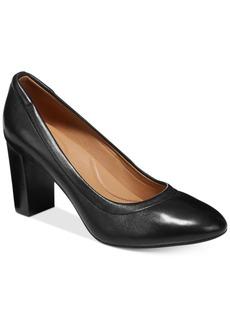 Clarks Artisan Women's Chryssa Ari Block-Heel Pumps Women's Shoes