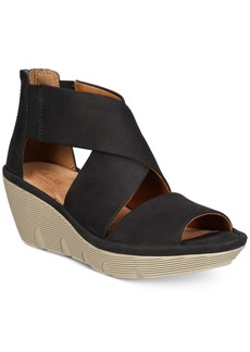 Clarks Artisan Women's Clarene Glamour Wedge Sandals Women's Shoes