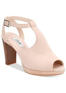 Clarks Artisan Women's Kendra Charm T-Strap Peep-Toe Pumps Women's Shoes