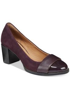 Clarks Artisan Women's Tarah Brae Block-Heel Pumps Women's Shoes
