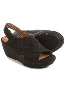 Clarks Clarene Award Wedge Sandals - Nubuck (For Women)