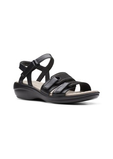 Clarks Collection Women's Alexis Shine Flat Sandals Women's Shoes