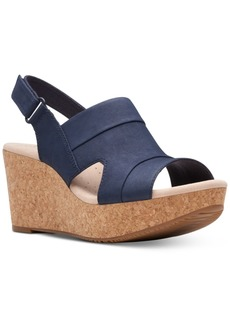Clarks Collection Women's Annadel Ivory Wedge Sandals Women's Shoes