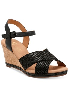 Clarks Collection Women's Helio Latitiude Wedge Sandals Women's Shoes