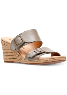 Clarks Collection Women's Lafely Devin Wedge Sandals Women's Shoes