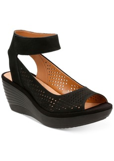 Clarks Collection Women's Reedly Salene Wedge Sandals Women's Shoes
