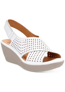 Clarks Collection Women's Reedly Variel Wedge Sandals Women's Shoes