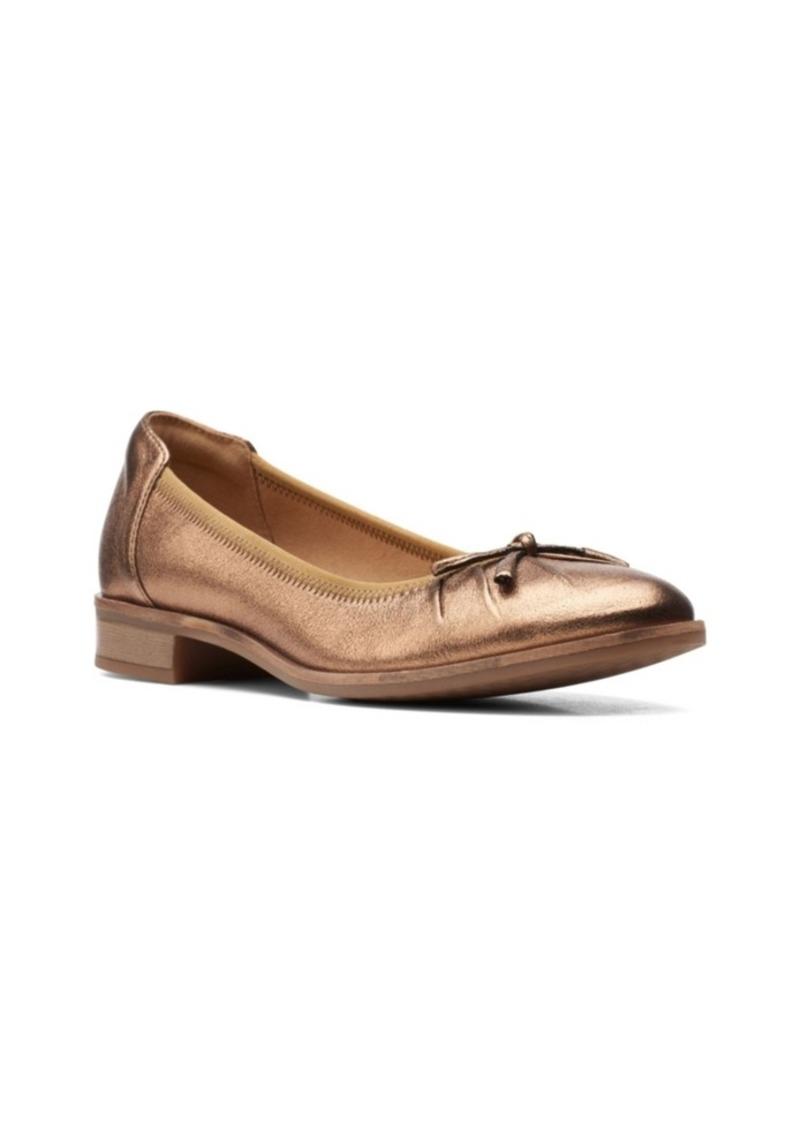 Clarks Collection Women's Trish Rhea Ballet Flat Shoes Women's Shoes
