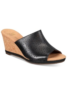Clarks Collections Women's Helio Corridor Wedge Sandals Women's Shoes
