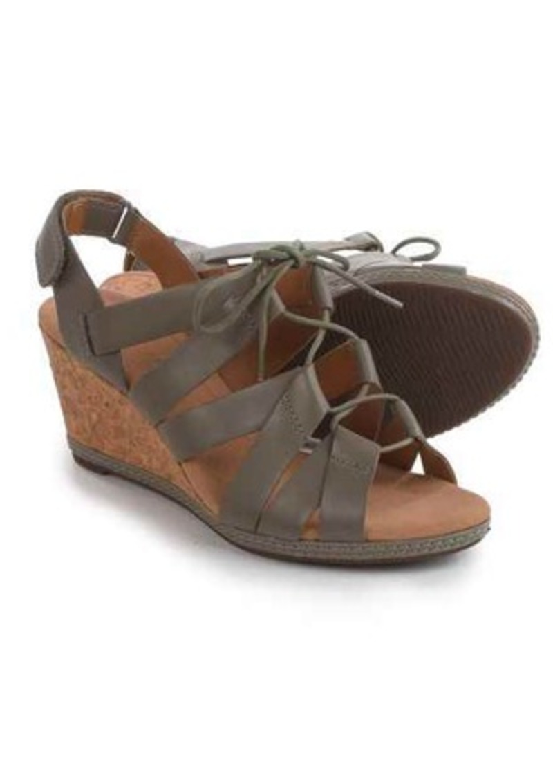 46b8053fcde9 Clarks Clarks Helio Mindin Lace-Up Wedge Sandals - Leather (For ...