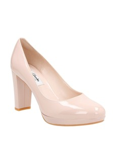 Clarks® Kendra Sienna Almond Toe Pump (Women)