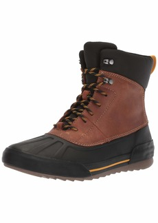 CLARKS Men's Bowman Peak Ankle Boot Dark tan Leather 0 M US