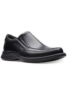 Clarks Men's Kempton Free Black Leather Dress Casual Loafers Men's Shoes