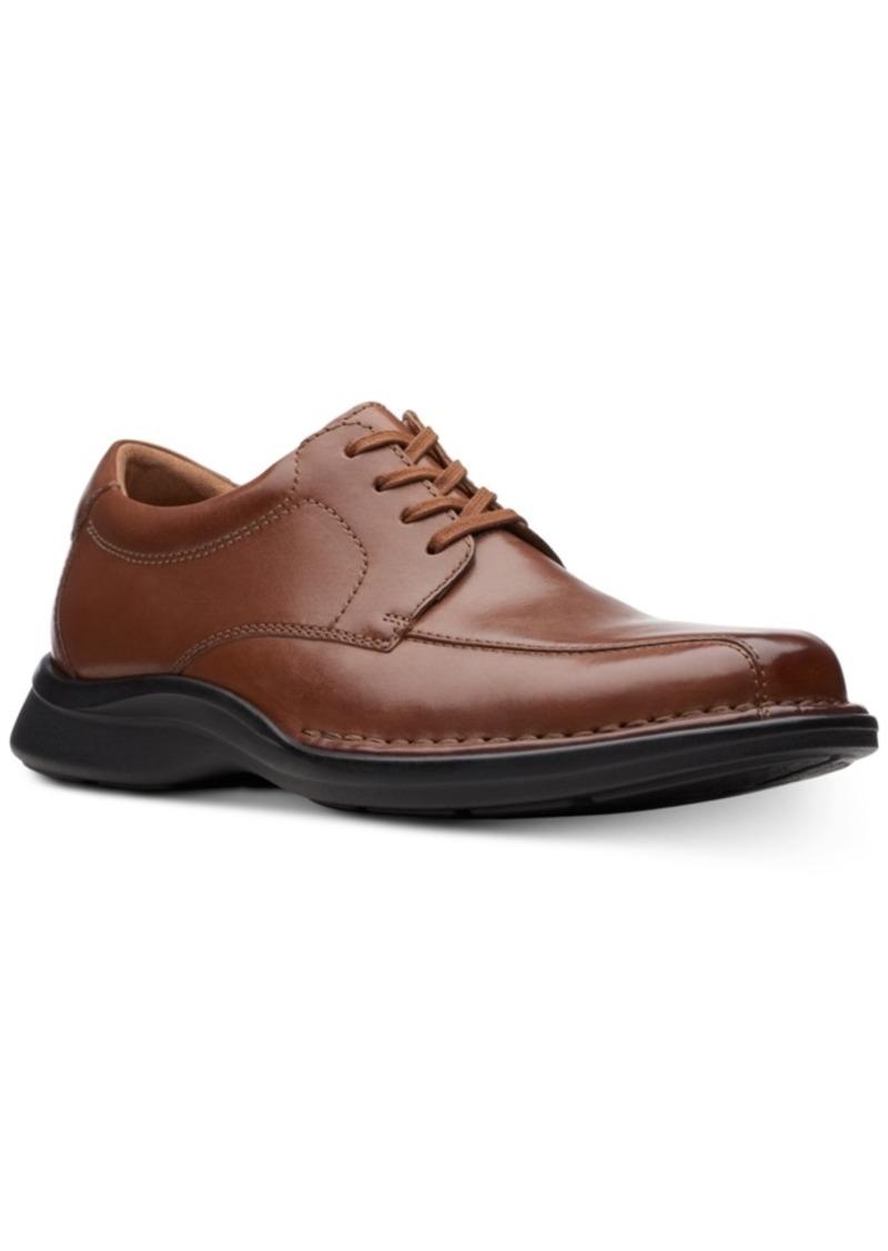 Clarks Men's Kempton Run Black Leather Dress Casual Lace-Up Shoes Men's Shoes