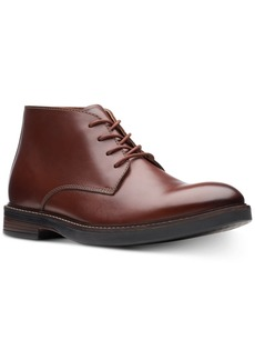 Clarks Men's Paulson Mid Mahogany Leather Casual Boots Men's Shoes