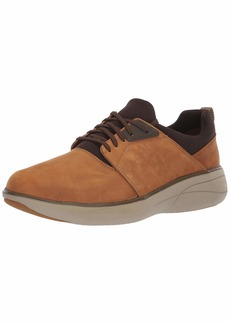 Clarks Men's Un Rise Lo Sneaker Dark tan Oily Leather  M US