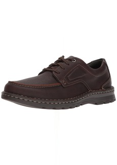 Clarks Men's Vanek Apron Shoe brown oily leather  US