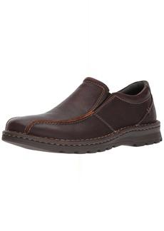 Clarks Men's Vanek Step Shoe brown oily leather  Medium US