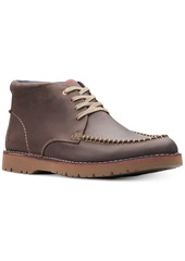 Clarks Men's Vargo Apron-Toe Leather Chukka Boots, Created for Macy's Men's Shoes