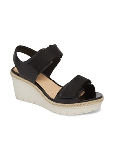 Clarks® Palm Shine Wedge Sandal (Women)