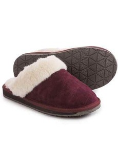 Clarks Quilted Scuff Slippers - Suede (For Women)