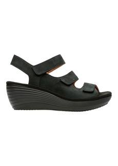Clarks Reedyjuno Leather Wedge Sandal