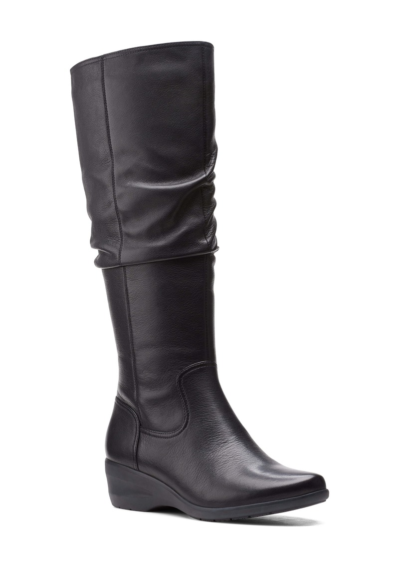 Clarks® Rosely Knee High Leather Boot (Women)