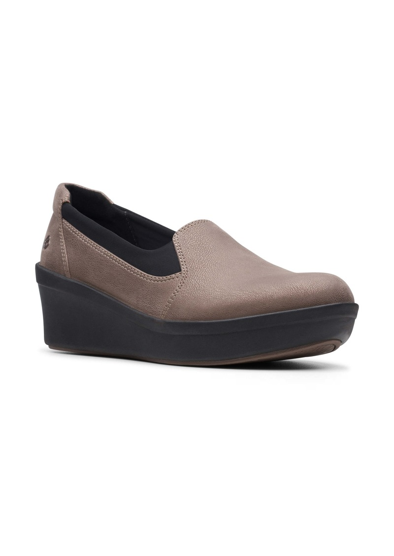 Clarks® Step Rose Moon Wedge Loafer (Women)