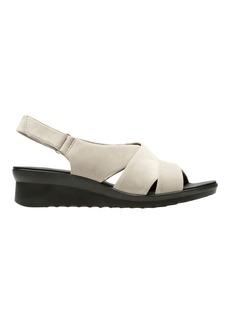 Clarks Caddell Patel Slingback Wedge Sandals
