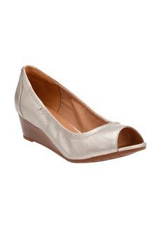 Clarks® Vendra Daisy Open Toe Wedge (Women)