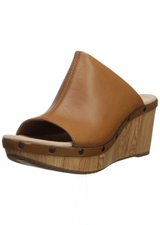 CLARKS Women's Annadel Molly Wedge Sandal tan Leather 055 M US