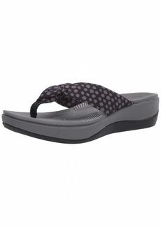Clarks Women's Arla Glison Flip-Flop Black Textile Grey dots 0 M US