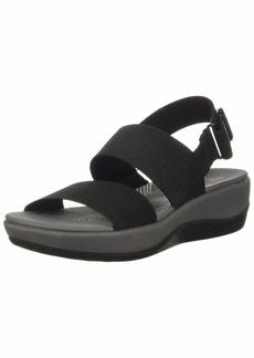 Clarks womens Arla Jacory Wedge Sandal   US