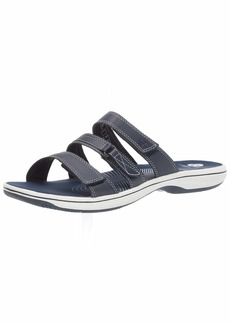 CLARKS Women's Brinkley Coast Slide Sandal  0 M US