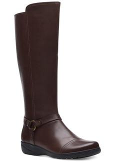 Clarks Women's Cheyn Lindie Leather Boots Women's Shoes