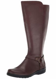 CLARKS Women's Cheyn Lindie Wide Calf Knee High Boot  85 M US