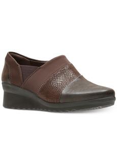 Clarks Women's Cloud Stepper Caddell Denali Wedges Women's Shoes