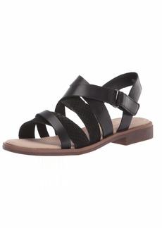 Clarks Women's Declan Mix Sandal Black Leather/nubuck combi 00 M US