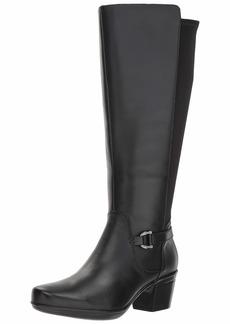 CLARKS Women's Emslie March Wide Calf Fashion Boot  0 M US