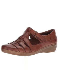 Clarks Women's Everlay Cape Loafer Dark tan Leather  M US