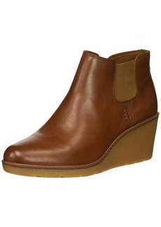 CLARKS Women's Hazen Flora Fashion Boot tan Leather 085 M US